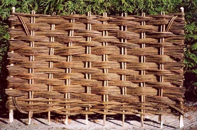 плетенка забор из веток