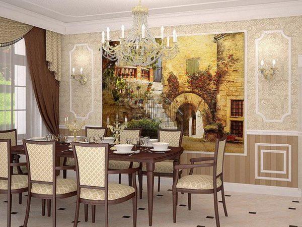 Декоративные фрески в интерьере