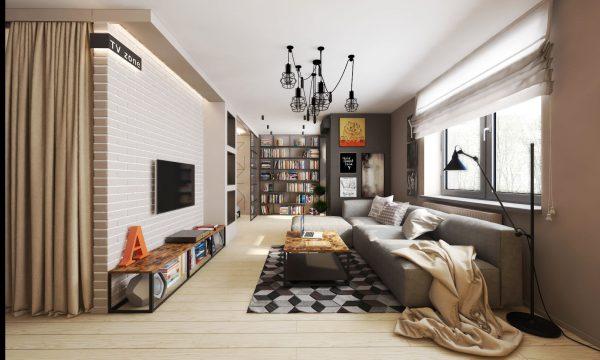 Оформление интерьера квартиры-студии