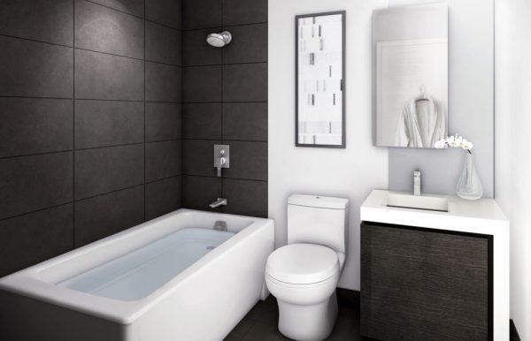 Дизайн ванны, совмещенной с туалетом